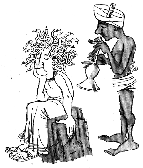 Medusa at the hairdresser's (Chris Sharrock, sharrock.wordpress.com)